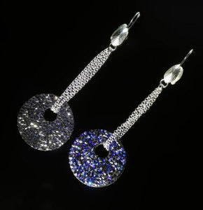 Silver earrings with Swarovski elements
